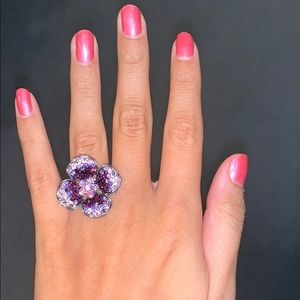 Guess purple flower ring